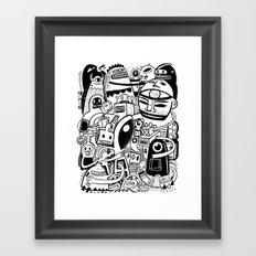 BIG - BW Framed Art Print