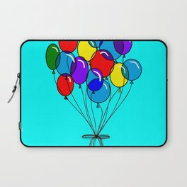 A Bouquet of Balloons with a Blue Background Laptop Sleeve