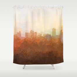 Knoxville, Tennessee Skyline - In the Clouds Shower Curtain