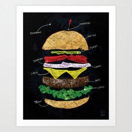How-To-Build-A-Hamburger Art Print