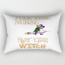 Halloween Costume Full Time Nurse Part-Time Witch Rectangular Pillow