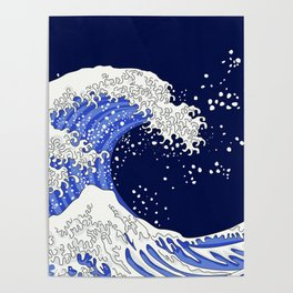 Great Blue Wave Poster