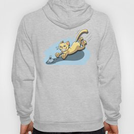 Cat Running After Rat - Tom and Jerry Illustration Hoody