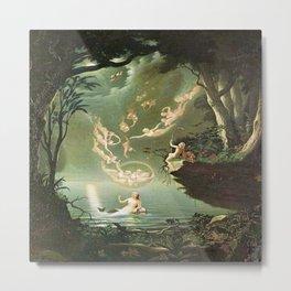 """Oberon and the Mermaid"" by Douglas Harvey (1853) Metal Print"