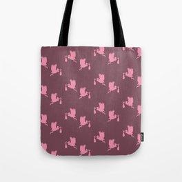 Pink storks pattern Tote Bag