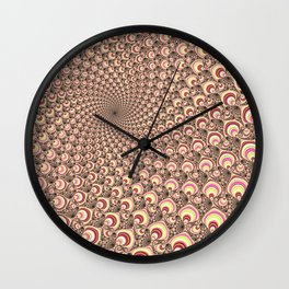 Super Psychedelic Candy Swirl Wall Clock
