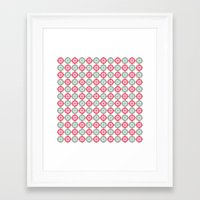 morrocan Framed Art Prints featuring Colorful Morrocan Quatrefoil Pattern by Bimbys