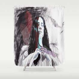 Greed. Shower Curtain