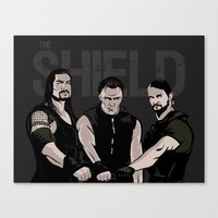 wwe Canvas Prints featuring WWE - The Shield by Chaotic Color