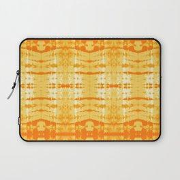 Satin Shibori Yellow Laptop Sleeve