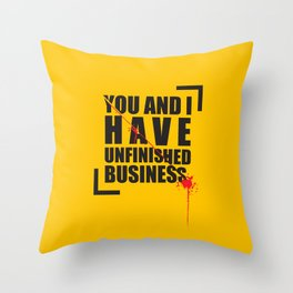 Kill Bill Minimal Poster 2.0 Throw Pillow