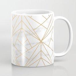 Marble, Geometry and Gold Coffee Mug