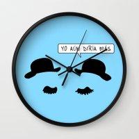 tintin Wall Clocks featuring Tintin: Thomson and Thompson by dutyfreak