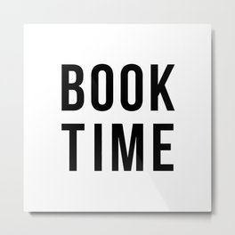 Book Time Metal Print