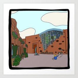 Cambridge Struggles: Robinson College Art Print