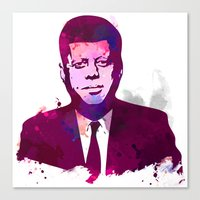 jfk Canvas Prints featuring JFK by BIG Colours