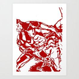 Wrestling Lovers Art Print