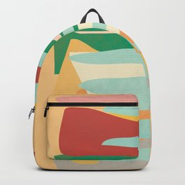 Abstract Vertical Waves Backpack