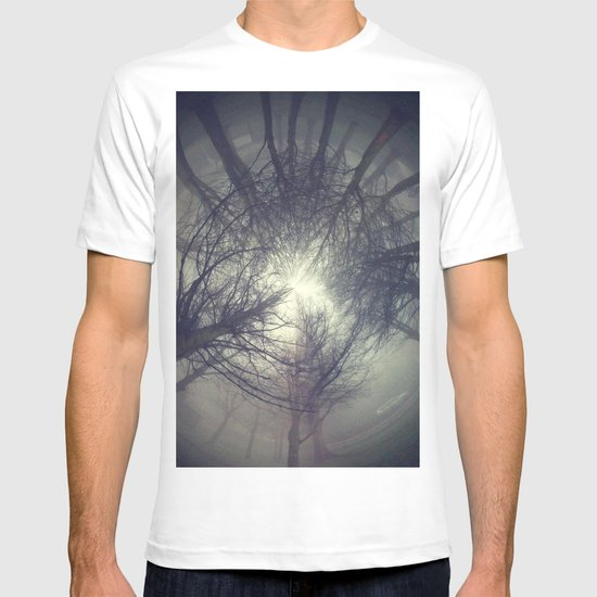 Circle of misty trees T-shirt