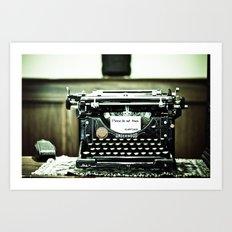 You don't write anymore... Art Print