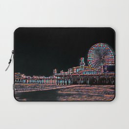 Stained Glass Santa Monica Pier Laptop Sleeve