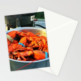 Maine Lobster Pot (3) Stationery Cards