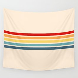 Takaakira - Classic Rainbow Retro Stripes Wall Tapestry