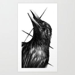 Raven Drone Art Print