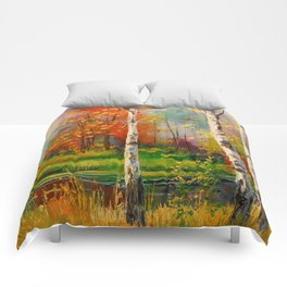 Melody of autumn Comforters