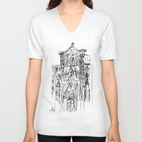 florence V-neck T-shirts featuring d'uomo florence by ledi