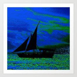 Ocean Silhouette Art Print