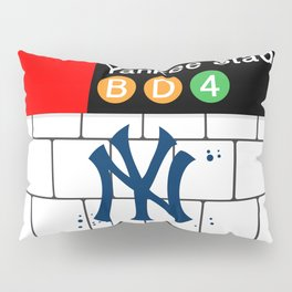NYC Yankees Subway Pillow Sham