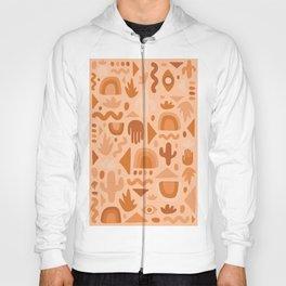 Orange Cutout Print Hoody