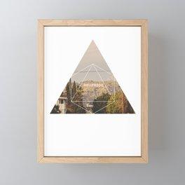 Hollywood Sign - Geometric Photography Framed Mini Art Print