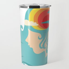 California Dreaming Blue Travel Mug