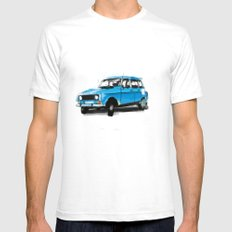 Renault 4L SMALL White Mens Fitted Tee