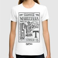 marijuana T-shirts featuring SMOKE MARIJUANA by NIGHTJUNKIE