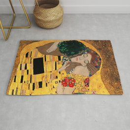 The Kiss - For Interracial Couples Rug
