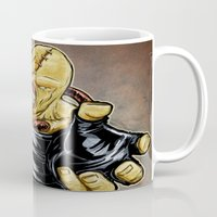 resident evil Mugs featuring Nemesis: Resident Evil by Patrick Scullin