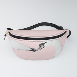 Blush Kiss - Swans in Love - Kissing Swans #1 #decor #art #society6 Fanny Pack