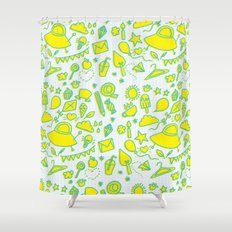 doodle brightness Shower Curtain