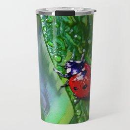 Ladybug Leaf | Painting  Travel Mug