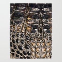 American alligator Leather Print Poster