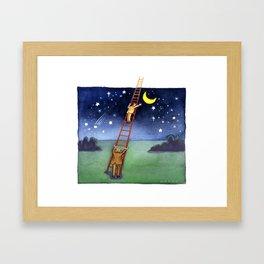 Reaching for the Moon Framed Art Print