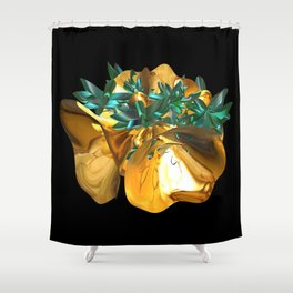 Fractal Christmas Bells Shower Curtain