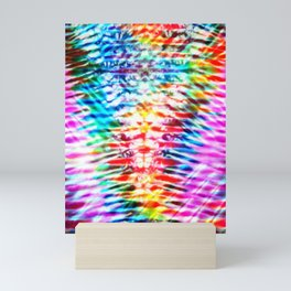 Crumpled Rainbow V Tie Dye Mini Art Print