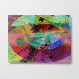 Scraps Metal Print