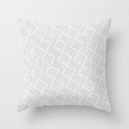 Tilting Diamonds in Grey Throw Pillow