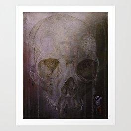 Broken Skull 2 Art Print