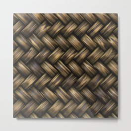 Natural Blended Weave Metal Print